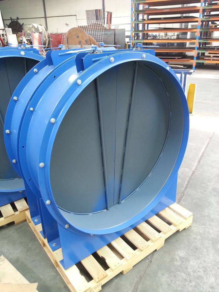 Mining Ventilation, VOD, Non-counterweight, Directional Arrows, Non-return Damper, Self Closing, Heavy Duty Damper