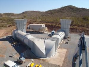 Raise Bore, Collar, Mine Ventilation, Main Ventilation, Primary Ventilation, Backdraft Damper, Non-return Damper, Large Centrifugal Fan, High Efficiency