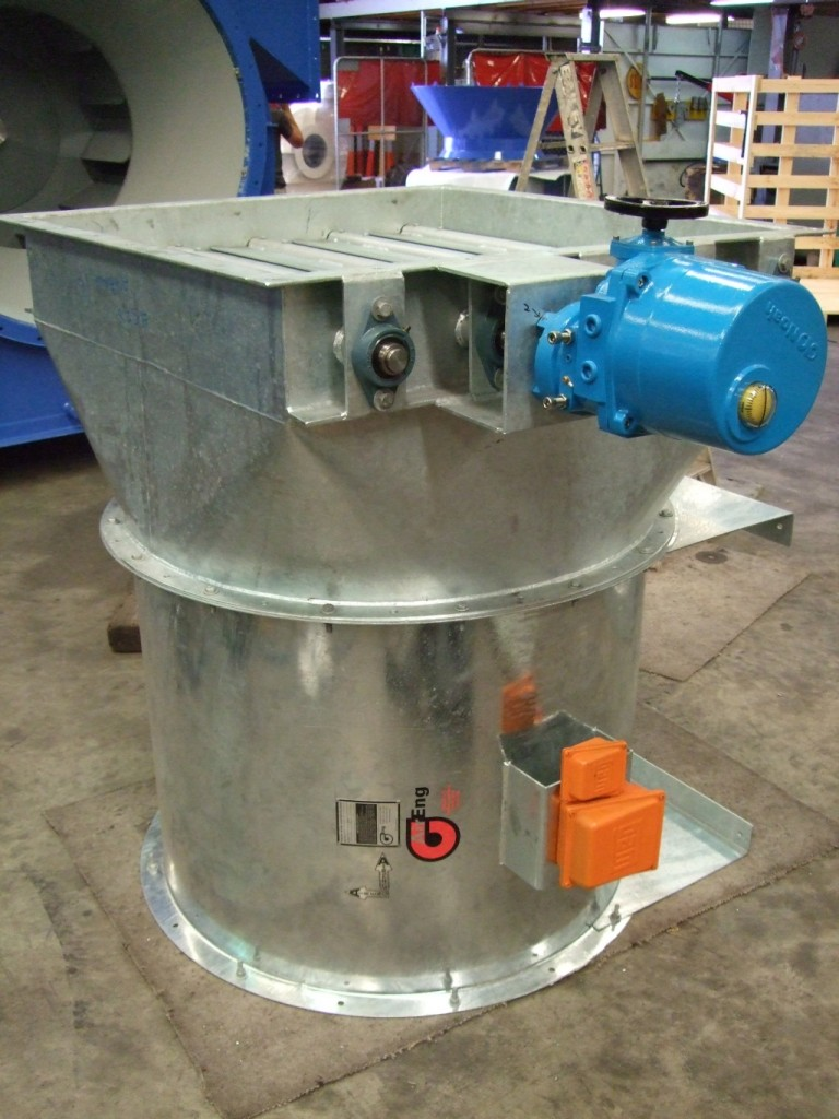 Actuated Blade Damper, Mechanical, Axial Fan, Ventilation, Opposed Blade Damper, Exhaust Fan, Supply Air Fan