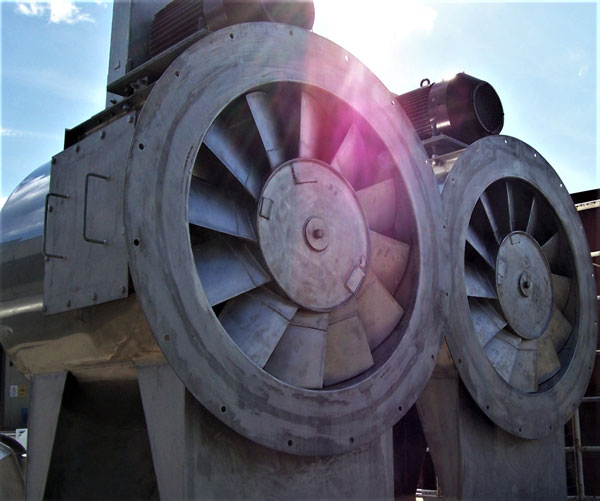 What are the different types of industrial fans?
